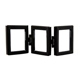 Jet Black Mini Triple Photo Frame