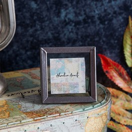 Graphite Mini Square Photo Frame