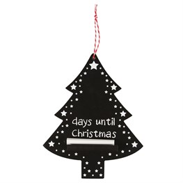 Hanging Snowy Christmas Tree Chalkboard