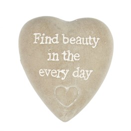 Find Beauty in the Everyday Heart Pebble