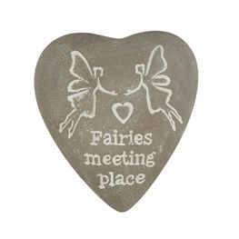 Fairies Meeting Place Engraved Heart Pebble