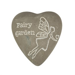 Fairy Garden Engraved Heart Pebble