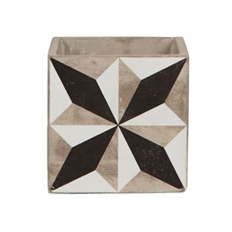 Geo Black & White Tile Planter