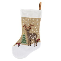 Winter Woodland Deer Christmas Stocking