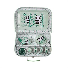 Aiko Panda Picnic Box Tea Set