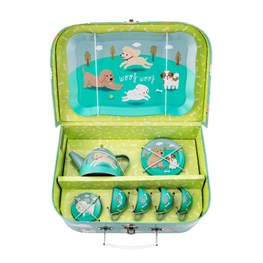 Puppy Dog Playtime Picnic Box Tea Set