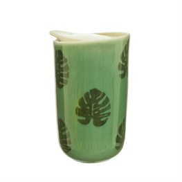 Cheese Plant Leaf Ceramic Travel Mug