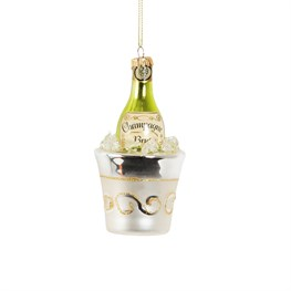 Lets Celebrate Champagne On Ice Shaped Bauble