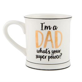 Metallic Monochrome I'm a Dad Mug
