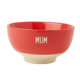 Mum Cereal Bowl Red