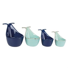 Set of 4 Blue Whale Measuring Cups