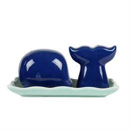 Blue Whale Salt & Pepper Shaker Set