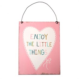 Enjoy the Little Things Plaque Light Pink