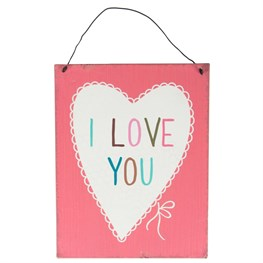 I Love You Lovely Sayings Plaque