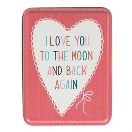 I Love You to the Moon Lovely Sayings Storage Tin