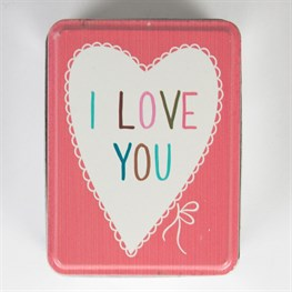 I Love You Lovely Sayings Storage Tin