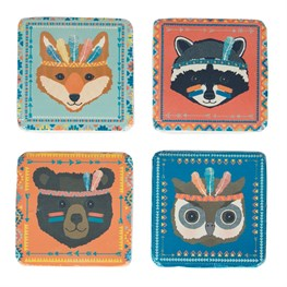 Set of 4 Animal Adventure Animal Coasters