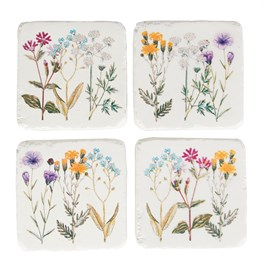 Set of 4 Wildflower Coasters
