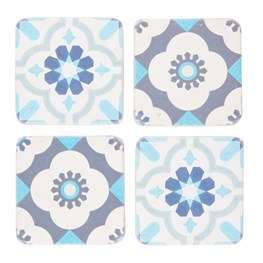 Set of 4 Mediterranean Mosaic Coasters