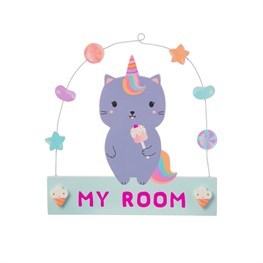 Luna Caticorn Sweeties Hanging Plaque