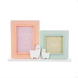 Little Llama Mummy Cuddles Double Photo Frame