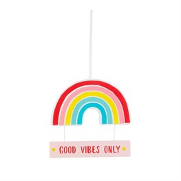 Chasing Rainbows Positive Vibes Hanging Plaque