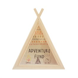 Bear Camp Teepee Money Box
