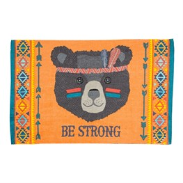 Be Strong Bear Animal Adventure Rug
