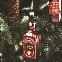 Lets Celebrate Scotch Bottle Hanging Decoration