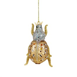 Beetle Jewels Crackle Effect Shaped Bauble