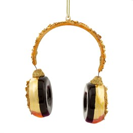 Luxe Handmade Headphone Shaped Bauble