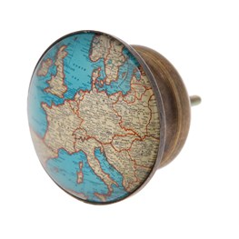 Vintage Map Drawer Knob Large