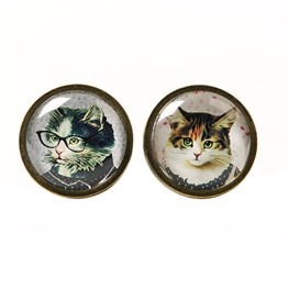 Cat Dress Up Drawer Knob  (options available)
