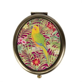 Parrot Paradise Compact Mirror in Pink