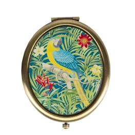 Parrot Paradise Compact Mirror in Blue