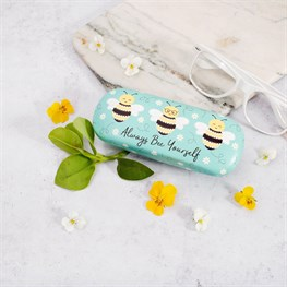 Bee Happy Glasses Case