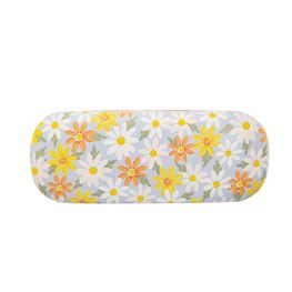 Blue Daisy Glasses Case