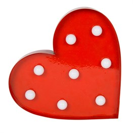 Heart LED Light Wall Decoration Red