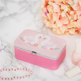 Freya Swan Mini Travel Jewellery Box