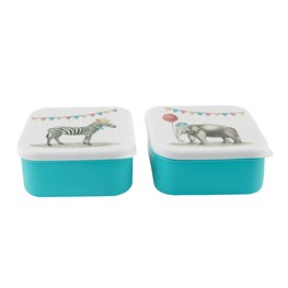 Party Animals Square Lunch Box (options available)