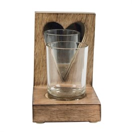 Homely Heart Mirror Tealight Holder