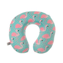 Tropical Summer Flamingo Travel Neck Pillow