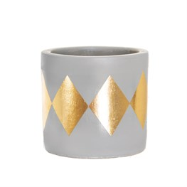 Mini Dina Gold Dip Cement Planter