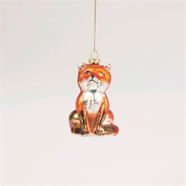 Glitzy Fox Bauble