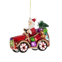 Sleigh No More Car Shaped Bauble