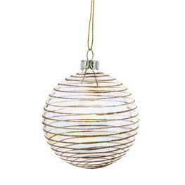 Iridescent Gold Striped Bauble