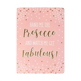 Fabulous Pink Prosecco Party A5 Notebook