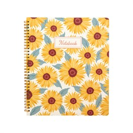 Sunflowers A4 Lined Notebook