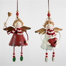 Red & White Fairy Rag Doll with Legs Decoration