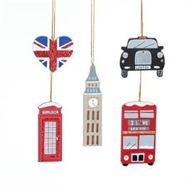 London Icon Hanging Decorations - Set of 5